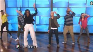 Mémorable- Michelle Obama réalise une choré endiablée sur le tube Uptown Funk (vidéo) 130