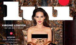 Virginie Ledoyen pose topless en couverture de Lui 53