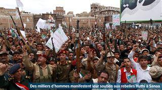 Yémen- nouvelles frappes aériennes de la coalition menée par l'Arabie saoudite contre les rebelles chiites Huthis 18