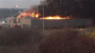 Usine en feu dans le zoning de Stembert- l'entreprise Food Impact complètement détruite 10