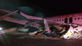 Canada- le train d'atterrissage de l'avion a été arraché par des antennes 350m avant la piste 9