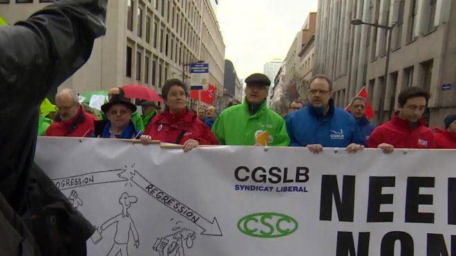 Manifestation syndicale à Bruxelles- vers une nouvelle grève générale? 1