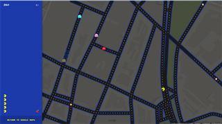 FABULEUX- vous pouvez jouer à Pac-Man dans les rues de votre ville sur Google Map 20