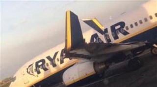 Deux avions Ryanair se percutent sur la piste de l'aéroport de Dublin 2