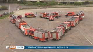 L'opération Dessine-moi un cœur est un vrai succès- les pompiers de Charleroi ont réalisé leur oeuvre 3