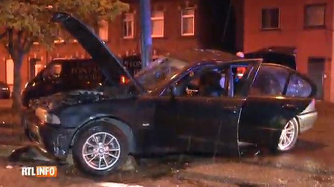 Marcinelle- le passager d'une voiture tué suite à une collision avec un poteau 1