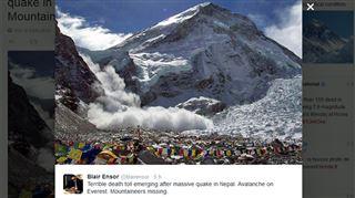 Enorme séisme au Népal- ne croyez pas cette photo qui circule... 7