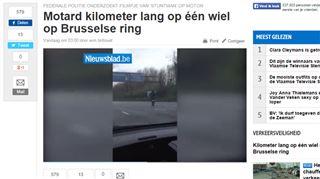 Le motard cascadeur filmé sur le Ring de Bruxelles identifié par la police- il a eu un moment d'inattention 5