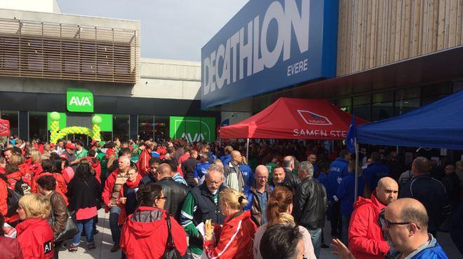 Pourquoi les syndicats ont-ils perturbé l'ouverture du plus grand Décathlon de Belgique? 3