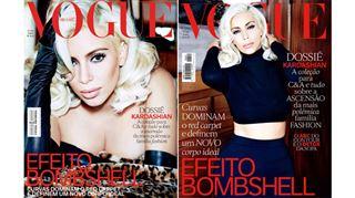Kim Kardashian en Marilyn Monroe très sexy en une de Vogue Brésil! (photos) 9