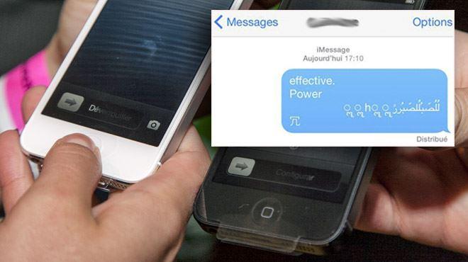 Un incroyable bug permet de paralyser un iPhone à distance à l'aide d'un simple message- Gros hackage, je l'ai déjà reçu 4 fois 1