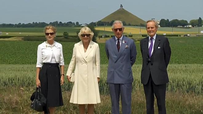 Waterloo 2015: Charles et Camilla inaugurent la ferme d'Hougoumont rénovée