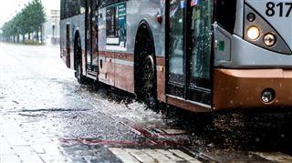 Des automobilistes empruntent une bande de bus près du Decathlon d'Evere- la STIB a trouvé la combinaison infaillible 3