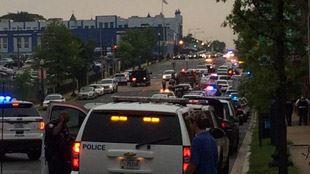 Possible fusillade sur le campus Navy Yard à Washington- le quartier bouclé 2