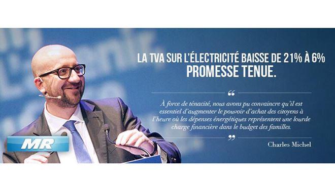 Charles Michel devient la risée d'internet- il y a 2 ans, il se félicitait de la baisse de la TVA sur l'électricité 1