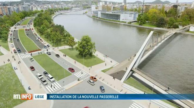 Liège- la passerelle vers la Boverie va enfin être posée ! 1