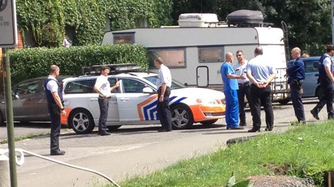 Course-poursuite à tombeau ouvert- une voiture finit dans le canal à Strépy-Bracquegnies 1