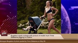 Elle court en bikini avec son bébé dans une poussette- la photo fait scandale 29