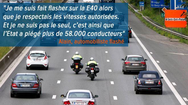 Un radar-tronçon flashe près de 60.000 automobilistes en deux semaines sur la E40- C'est un beau piège à cons 1