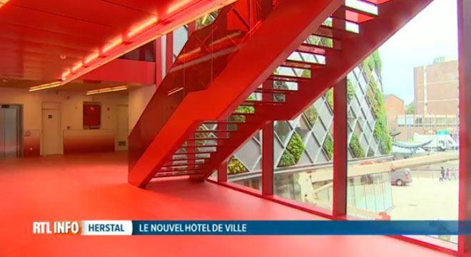 Le nouvel Hôtel de Ville d'Herstal aux couleurs surprenantes- il a coûté 30 millions d'euros 1