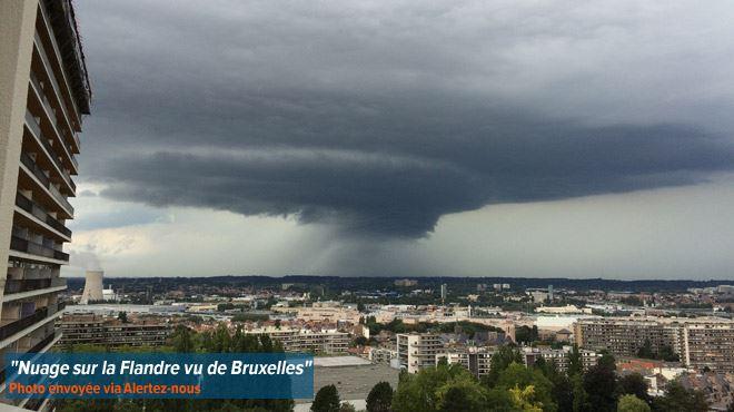 Bruxelles- Pas d'orage, pas de pluie, rien à part ce NUAGE ETRANGE (photos) 1