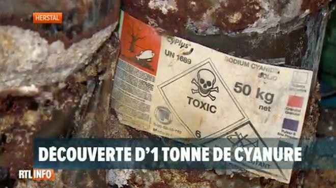 Découverte inquiétante d'une tonne de cyanure de sodium dans une usine à Herstal- un produit très dangereux utilisé par les nazis 1