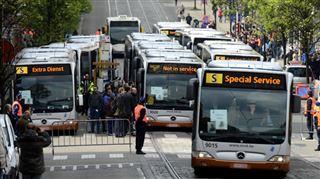 De nombreuses lignes de la STIB touchées par une grève- un chauffeur de bus agressé par le conducteur d'une Porsche 3