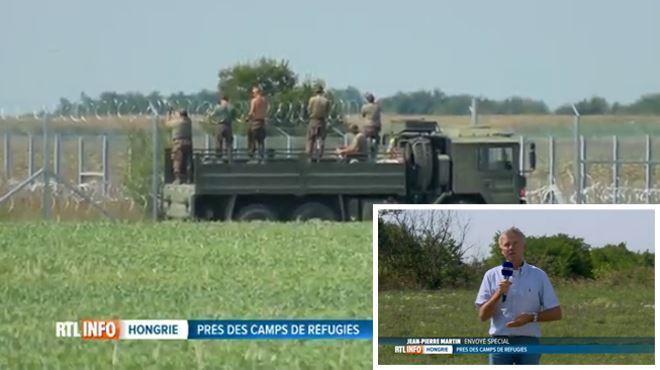 L'absurdité du mur barbelé en Hongrie- une équipe de RTL le franchit en deux secondes (vidéo) 1