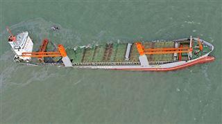 Collision et naufrage d'un cargo au large de Zeebrugge- le mazout atteint la réserve naturelle du Zwin 5