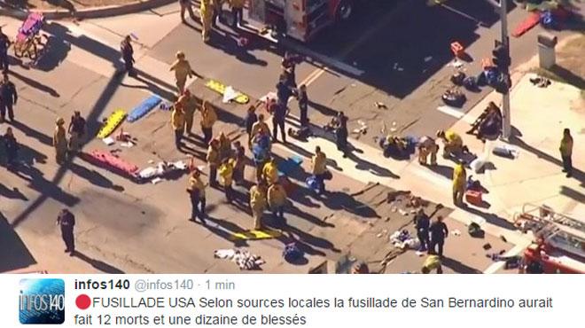 Fusillade près de Los Angeles: 20 victimes d'après les pompiers, le SWAT et les démineurs sur place