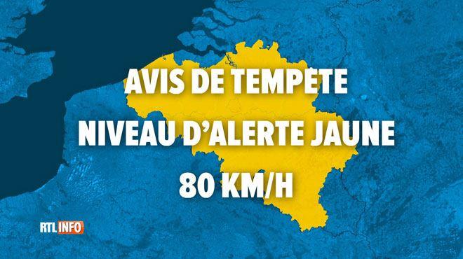 Avis de tempête et alerte jaune pour cette nuit- fortes rafales de vent dans toute la Belgique 1
