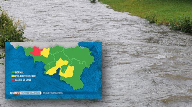 Plusieurs cours d'eau menacent de déborder en Wallonie- déjà des inondations à Namur, pic de crue à 22h 1